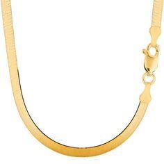 f79e7eaa37234 14K Yellow Gold Imperial Herringbone Chain Bracelet - Width 5.0 mm - Length  8 Inch -