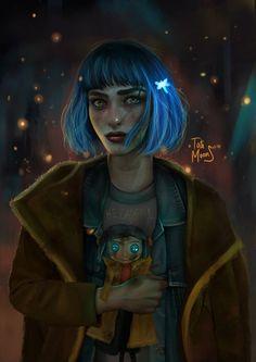 Coraline by Tati MoonS Coraline Jones, Coraline Movie, Coraline Art, Tim Burton Characters, Cartoon Characters, Disney And Dreamworks, Disney Pixar, Punk Disney, Coraline Aesthetic