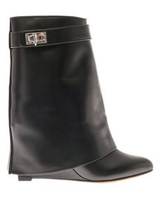 Givenchy Shark Lock leather ankle boots on shopstyle.com Givenchy Heels 1f99d7356d5
