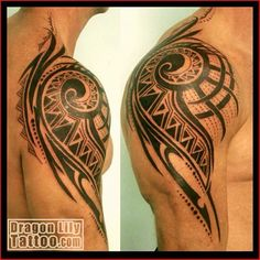 polynesische maori tattoos oberarm schulter mann bedeutung tattoos pinterest maori tattoos. Black Bedroom Furniture Sets. Home Design Ideas