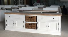 Landelijk wit tv meubel, 65 cm hoog!, AW 1041A, COUNTRY COLLECTIE | TV MEUBELS | answoonshop