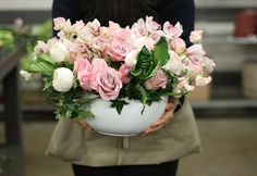 Old-fashioned romance in our 'Blush Luxe.' Valentine's Day: Behind-the-scenes at Winston Flowers.