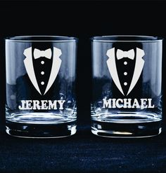 Groomsmen Gift Favor Personalized Etched Glasses Rocks Tumbler Toasting Reception