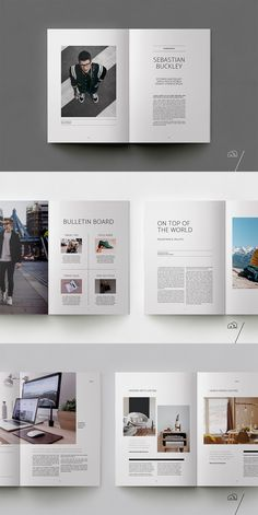 editorial layout FINLEY Lifestyle Magazine is a minimal, modern template to present your articles and ideas. The layouts have been designed with general lifestyle themes in mind to co Graphisches Design, Book Design, Raygun Magazine, Flyer Inspiration, Magazine Design Inspiration, Mises En Page Design Graphique, Magazine Layout Design, Editorial Design Magazine, Magazine Layouts