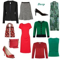 6 Mini Capsule Wardrobes to Suit Your Coloring via Looking Stylish UK #capsulewardrobes