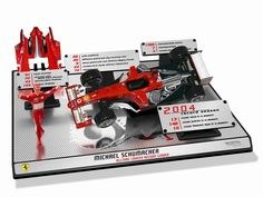 Hot Wheels Ferrari F2004 Michael Schumacher with removable 1:18 replica of Michael Schumacher™s all time records in F1. With removable engine cover to reveal all the mechanical detail underneath by Hotwheels. Limited to 3.030 pieces. www.comparestorep...