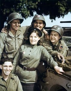 Troops with Female Russian Soldier