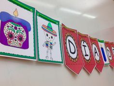 Día de los Muertos (Day of the Dead) Banner Middle School Spanish, Elementary Spanish, Teaching Spanish, Spanish Classroom, Elementary Education, Teaching Resources, Spanish Lesson Plans, Spanish Lessons, How To Speak Spanish