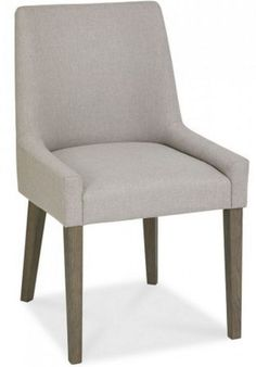 Bentley Designs Grey linen scoop dining chair  | eBay