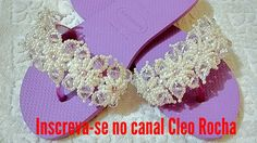"CHINELO "" SPOLIER KARDASHIAN "" C/ CRISTAIS E PÉROLAS BY CLEO ROCHA"