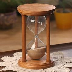 Solid Cherry Wood Hourglass With Smooth Spindles Hourglass Sand Timer, English Grammar For Kids, Sand Glass, Wedding Sand, Sand Timers, Unity Ceremony, Wood Glue, How To Antique Wood, Glass Globe