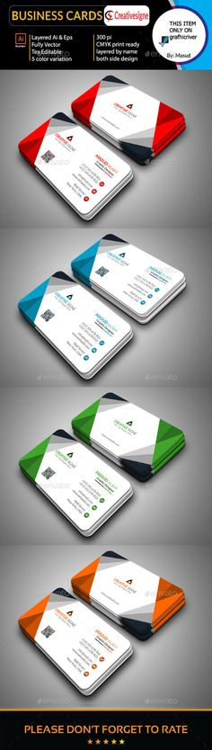 Business Card Template Vector EPS, AI Illustrator