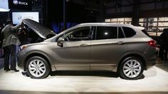 The Chinese made Envision makes a showing at the Buick display at shed 3 in Detroit's Eastern Market to help kick off the 2016 North American International Auto Show. Ford Fusion, Buick Envision, Detroit Auto Show, Detroit Free Press, Chinese, American, Display, Cars, Design