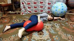 #Labor support: Peanut ball demo at the #midwifery today conference.