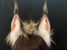 Dog Ears Headband, Ear Headbands, White And Black Cat, Neko Ears, Wolf Ears, Wolf Costume, Leopard Cat, Character Design, Character Creation