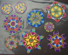 Kaleidoscope canes, via Flickr. Jembox polymer clay