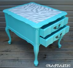 Maybe in red with zebra stripes for the living room?