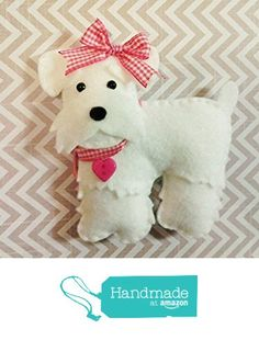 78ca044ce7 Felt Miniature Schnauzer Plush felt dog dog by BeckyLynnCreations