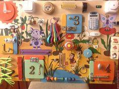 Купить Бизиборд Лунтик - комбинированный, бизиборд, развивающая игрушка, развивающая доска, игрушка, подарок
