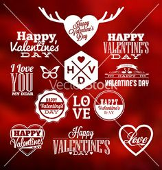 Valentines design vector - by medveh on VectorStock®