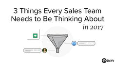 Thinking about your sales team's goals for 2017? Drift's VP of Sales shares 3 things you can do to improve conversion rates and drive more revenue.  Read the f…