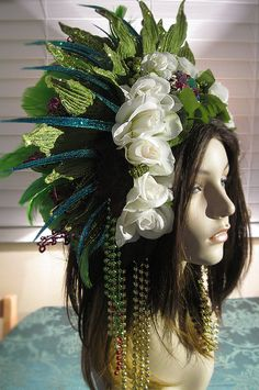 Mother earth goddess headdress gold and green red and blue https://www.etsy.com/listing/218300517/mother-earth-goddess-headdress-gold-and