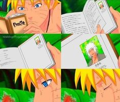 This book was written before Naruto was even born but it says alot about him coz it was written by his Sensei, Master Jurayia