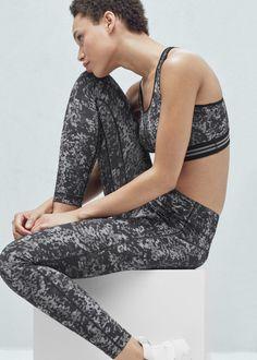 Fitness & running - slimming effect leggings - Trousers for Woman | MANGO United Kingdom