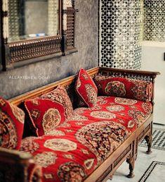 Red and brown Bohemian Living, Bohemian House, Bohemian Decor, Trautes Heim, Cool Furniture, Painted Furniture, Furniture Design, Dream Decor, Sofa Chair