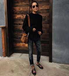 Loafer and denim casual style