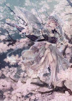 Ideas for blossom tree illustration anime art I Love Anime, Awesome Anime, Manga Drawing, Manga Art, Manga Anime, Tree Illustration, Manga Characters, Anime Artwork, Pictures To Draw