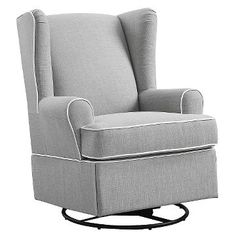 Eddie Bauer® Upholstered Wingback Swivel Glider - Gray