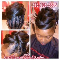 Pin ups and updos at hairtamersstudio.com