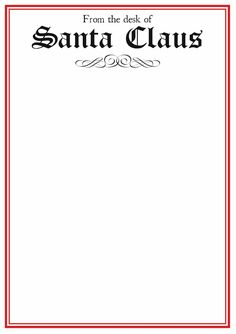 Free blank letter from santa template new calendar template site here just right click and save print santa templates for free letters letter template pronofoot35fo Gallery