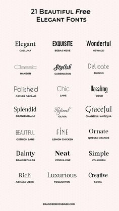 20 Beautiful and free elegant fonts — Ana Amelio – Expolore the best and the special ideas about Logo branding Free Font Design, Graphic Design Fonts, Typography Design, Branding Design, Web Design, Font Free, Font Logo Design, Free Typography Fonts, Corporate Branding