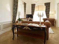 Living room of Schönbrunn Palace Suite in Vienna