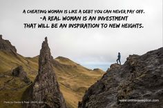 Some women find it empowering to cheat.  Do you really want an ongoing debt or an investment?  www.onlinedeception.com  #isshecheating #infidelity