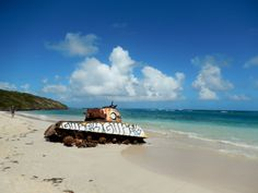 Flamenco Beach In Culebra Puerto Rico Remnants Of Tank From U S Navy Practices