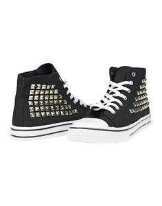 Studded high-top sneakers