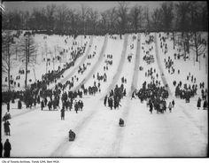 Tobogganing/Snow in general (High Park Toboggan Runs, City of Toronto Archives, Fonds Item Winter Fun, Winter Looks, Winter Sports, Toronto High Park, Toronto City, Toronto Canada, Vintage Photographs, Vintage Photos, Canada Eh