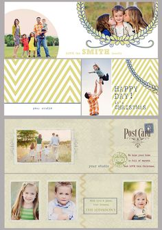 Photog pals! This designer has some awesome, trendy, modern templates! Love them!