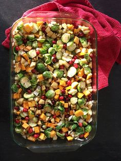 Vegan Festive Winter Fruits and Veggies Recipe With Tempeh Bacon