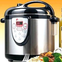 multifunction electric pressure cooker replaces your cooker, slow cooker, food steamer, rice cooker stainless steel dishwasher-safe cooking pot. Digital Pressure Cooker, Power Pressure Cooker, Pressure Cooker Recipes, Pressure Cooking, Slow Cooker, Browning, Electric Pressure Cooker Reviews, Electric Cookers, Stainless Steel Rice Cooker