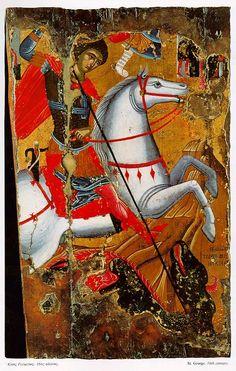 St George's day at Blackfen Byzantine Art, Byzantine Icons, Catholic Saints, Patron Saints, Happy St George's Day, Patron Saint Of England, St George Flag, Saint George And The Dragon, St Georges Day