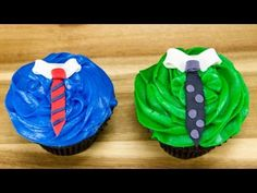 Fathers Day Cupcakes: Fondant Neckties