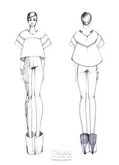 fashion sketch by #dushky   #fashion #illustration #design #sketch #future #futuristic #womens #wear #costume