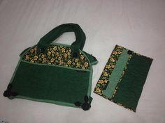 Conjunto Coordenado Girassóis - Bolsa tamanho grande e Porta Notebook - Musa Edna