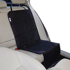 Baby Commander Car Seat Protector for Baby Child Car Seat Booster Dog Pet Mats Protects Automotive Vehicle Leather Seats or Cloth Upholstery Easy to Clean Thick Cover Pad with Pockets