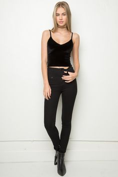Brandy ♥ Melville | Joanne Velvet Tank - Silk & Velvet Pieces - Clothing