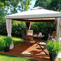 Terassikasvit popcornista   Meillä kotona Popcorn, Gazebo, Outdoor Structures, Patio, Outdoor Decor, Home Decor, Gardening, Tips, Kiosk